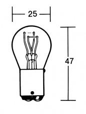 Zweifaden Rücklichtbirne 21/5 Watt