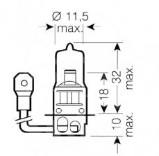 Halogen H3 Glühlampe 12V 55 W