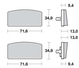 Bremsbeläge vorne MCB017 organisch