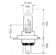 OSRAM H4 Night Breaker plus 12 V 60/55 Watt + 90% light