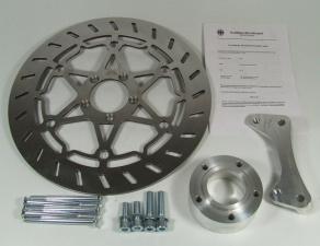 Bremsscheiben Kit 320 mm mit Bremssatteladapter und ABE für BMW R 80 G/S Monolever