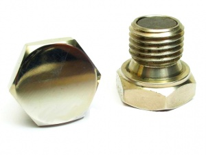Magnetic oil drain plug with sealing ring M16x1.5