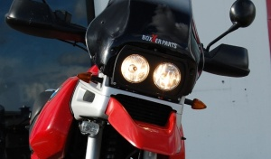Dual headlight for the BMW R 1100 / 850 GS