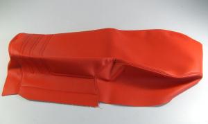 Bezug für die Doppelsitzbank R 80 G/S in Rot mit Absteppung und Naht