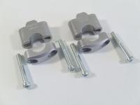 Handlebar raiser 30 mm, silver for BMW R 100/80 GS 1100 850 GS