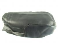 Bezug für die Doppelsitzbank R 80 G/S in schwarz mit Absteppung und Naht