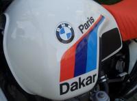 Aufkleber R 80 G/S Paris Dakar PD Tank links blau-violett-rot