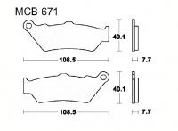 LUCAS MCB671SH Sinter Bremsbeläge hinten