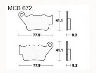 LUCAS MCB672SH Sinter brake pats, rear f. F 650 ST GS Dakar 93-08
