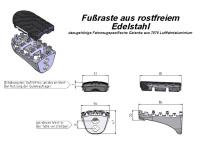 Edelstahl Fußrasten Kit F 800 GS -08