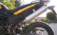 Zach Single-Pipe-Muffler ABE F 800 GS + F 650 GS