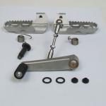 Set Fußrasten niedrig Edelstahl mit Schalthebel kurz für BMW R80 G/S bis Bj.01/84