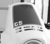 Aufkleber für Windabweiser, Verkleidung R 100 / 80 GS schwarz