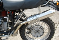 ZACH Exhaust with round end cap for BMW R 100 / 80 GS and G/S