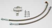 Oil cooler relocation kit stainless steel for BMW R 80 / 100 GS and R 80 G/S