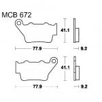 LUCAS MCB672 Standard Bremsbeläge