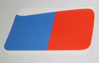 Aufkleber R 80 G/S Tank rechte Seite rot-blau