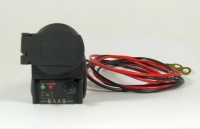 Bordsteckdose mit Federklappdeckel und Batterietester 12V
