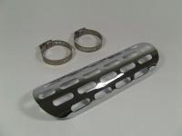 Auspuff Hitzeschutz Abdeckung CLASSIC, silber