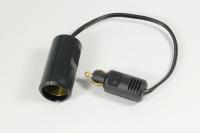 Adapter für KFZ Eurosteckdose DIN ISO 4165 auf Zigarettenanzündersteckdose