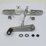 Complete set footpegs, lowered, and short gear shift stainless steel for BMW R 100 80 GS Paralever