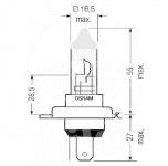 OSRAM H4 Night Breaker Laser 12 V 60/55 Watt