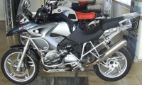Zach stainless steel exhaust f. BMW R 1200 GS R Adventure