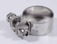 Exhaust clamp stainless steel 38 mm