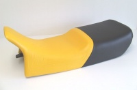Doppelsitzbank, schwarz-gelb, für die BMW R 2V GS Paralever