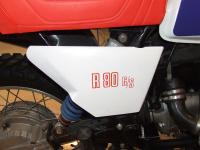 Aufkleber R 80 G/S Batterieabdeckung rot links oder rechts